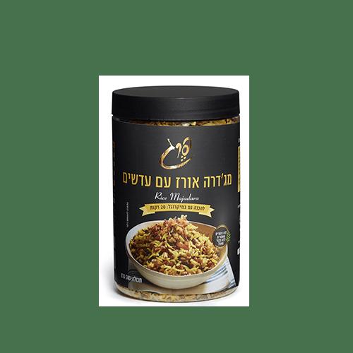 מג'דרה אורז עם עדשים 500 גרם